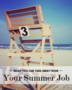 What you can take away from your summer job.