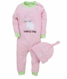 Bunnies Sleepsuit and Hat £18.95 #Easter #Hatley