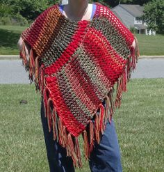 Multicolor Reversible Triangle Shawl by KarensKreationsToday, $50.00
