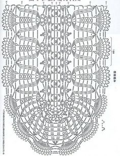 Crochet Doilies Diagram Oval Free Pattern Ideas For 2019 Crochet Table Runner Pattern, Crochet Blanket Edging, Crochet Doily Diagram, Crochet Doily Patterns, Crochet Tablecloth, Crochet Squares, Crochet Motif, Free Crochet, Bobble Crochet