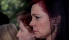 Arlene Fowler (Carrie Preston) mourns the loss of Terry Bellefleur (Todd Lowe) in HBO's True Blood Season 6, Episode 9, entitled 'Life Matters'