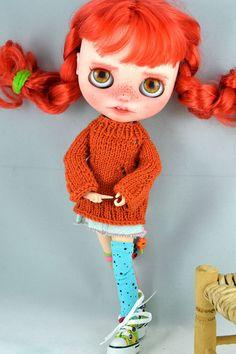 RESERVED OOAK Custom Blythe doll Pippi