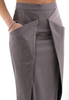 Skirt design unique Ideas for 2019 Fashion Details, Look Fashion, Diy Fashion, Fashion Dresses, Fashion Tips, Fashion Design, Fashion Trends, Origami Fashion, Classy Fashion