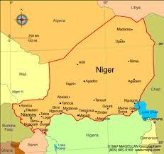 Niger:  18,360,608:  Capital - Niamey:  Life Expectancy: 54.6 year - 23rd largest country in the world