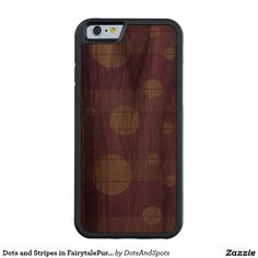 Dots and Stripes in FairytalePurple Carved® Walnut iPhone 6 Bumper