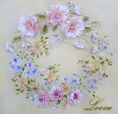 Ribbon embroidery wreath - Gallery.ru / Фото #53 - Вышивка лентами - Lorra58