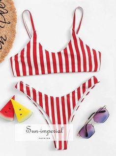 Mimfor Women Printing Bandage Bikini Set Push-Up Brazilian Swimwear Beachwear Swimsuit