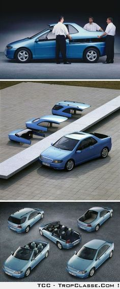 Concept car modulable, very smart, you can change every moment!