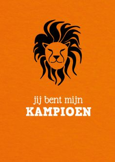 Jij bent mijn kampioen WK 2014 - Coachingskaarten - Kaartje2go Leeuw, oranje, wk, wk 2014