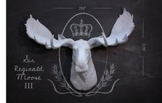 Any Color Faux Taxidermy Moose Fake Moose by TillieandTweedle Moose Head, Moose Art, White Moose, Hipster Home Decor, Christmas Moose, Faux Taxidermy, Modern Decor, Rustic Decor, Antlers