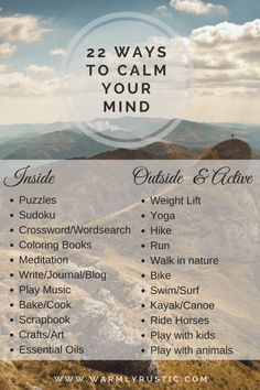 Ways to Help Your Mind Slow Down - Warmly Rustic