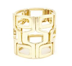 Hint: you'll have to click through and see how this looks on the model. It's a nice geometric stretch bracelet.