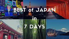 If you have only 1 week for your first visit to Japan, the best destinations would be Tokyo, Hakone, Kyoto and Osaka. Let's plan a perfect trip to Japan with this classic 1 week itinerary. Tokyo Japan Travel, Taiwan Travel, Kyoto Japan, Japan Trip, Where Is Bora Bora, Hakone, Tokyo Tower, Us Road Trip, Japan Photo