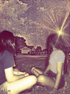 Sit and talk all night. Best friends!