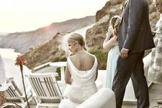 Santorini, Greece wedding photo shoot inspiration by Nikos Rigopoulos. Discover…