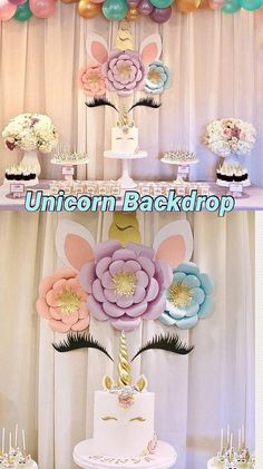 Unicorn Party Unicorn Decorations Unicorn Backdrop Unicorn