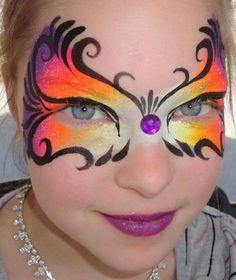 Princesses & Pirates Face Painting -  Havana Sunset mask 2/2