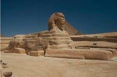 Vista lateral de la Esfinge de Gizeh. Dinastía IV