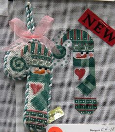 Danji designs snowman needlepoint by Cheryl Huckaby