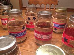 Baseball theme Mason jars
