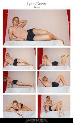 Stock - Lying Down by LaLunatique Poses Female Pose Reference, Pose Reference Photo, Human Reference, Figure Drawing Reference, Art Reference Poses, Kissing Reference, Anatomy Reference, Poses Modelo, Photographie Portrait Inspiration