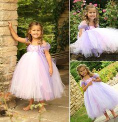"Rapunzel tutu dress. So cute! A ""must"" for Miss Vaite'a Skye Lilinoe ;)"