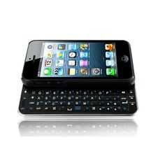 Wireless Bluetooth keyboard for iPhone 5 makes sure that your iPhone 5 keeps its beautiful looks, whilst offering you a thin QWERTY keyboard for easy messaging! From shopswagstore.com