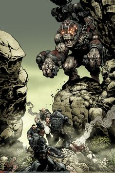 Gears of War Brumak issue 3 by ~LiamSharp on deviantART