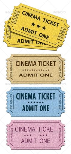Cinema Tickets — Photoshop PSD #recycled paper #entertainment • Available here → https://graphicriver.net/item/cinema-tickets/663332?ref=pxcr