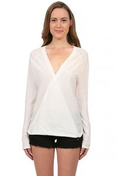 The Odells Wrap Top in Cr??me  available at #Loehmanns
