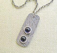 Amethyst Stone & Sterling Silver Pendant