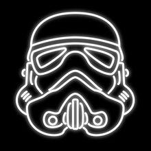 "Dr Neon Teken custom Stormtrooper Helm ster wit neon Bier winkel winkel Logo Bar Custom Neon LED Pub art Licht lamp 24 ""X 20""(China (Mainland))"