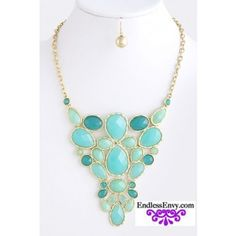 $27.95 Teardrop Bubble Necklace Turquiose at EndlessEnvy.com Fashion Jewelry meets Style Endless Envy