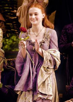 I never realized the gorgeous detail on her dress. Sansa Stark - Game of Thrones