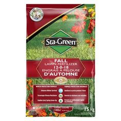 Sta Green Fertilizer 8691061 15kg Fall Lawn 12 0 18