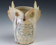 Snowy Owl Yarn Holder. #owl #snowy #holder #yarn