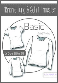 Basic Tunika Damen - DIN A 0 Schnittmuster und Anleitung als Broschüre