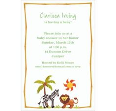 custom zebra u0026 friends baby shower invitations party city
