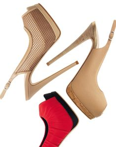 """I'm not a fan of sling backs, but these are to DIE for. The platform is exquisite and heel has """"sex me dowm in my office"""" written all over it!! #werk"""