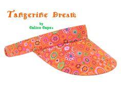 Tangerine Dream Bright Orange SUN Visor with Hot Pink | Etsy Plus And Minus, Hook And Loop Tape, Florida Usa, Panama City, City Beach, Drip Dry, Fashion Line, Custom Cards, Top Stitching