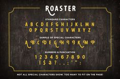 Like sweet, fresh roasted espresso poured into a warmed ceramic cup in the early morning. Roaster has a rounded, hand crafted flavor with lots of alternatives. A perfect font pair for branding and headings.