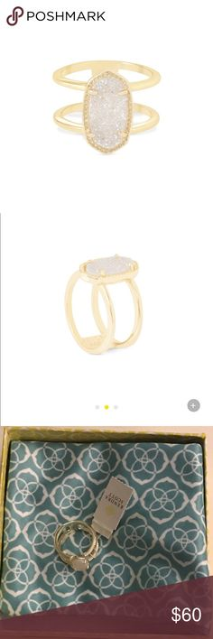 Kendra Scott Elyse Ring in Gold (Size 7) Never been used/ worn Kendra Scott Elyse Ring in Gold size 7! This ring is absolutely gorgeous and looks as beautiful as a diamond ring! It shimmers beautifully and looks like it's worth a million dollars. Don't miss out on this great deal! PRICE IS NEGOTIABLE Kendra Scott Jewelry Rings