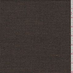 $8. Tricotene. Mocha brown and black. This light/medium weight wool fabric has a textured feel and good drape .Compare to $25.00/yd