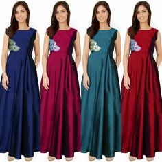 Checkout this colourful designer gown  Product Info : Material:- Taffeta Silk Stitch Type:- Stitched (No stitching required) Size:- S, M, XL,  Neck Type:- Round Sleeve:- Sleeveless Colour:- Sea Green,Pink,Maroon,Black  Price : 2200 INR Only ! #Booknow  CASH ON DELIVERY Available In India !  World Wide Shipping ! ✈  For orders / enquiry 📲 WhatsApp @ +91-9054562754 Or Inbox Us , Worldwide Shipping ! ✈ #SHOPNOW  #indianwear #ethnicwear #bollywood #dress #outfit #salwarka..