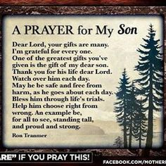 Prayer for my son quotes and sayings молитвы, библия Prayer For Son, Prayer For My Children, Quotes Children, Parents Prayer, Faith Prayer, Love My Children, Childrens Prayer, Love My Mom Quotes, Mommy Quotes
