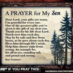 A prayer for my son Prayer For Son, Prayer For My Children, Quotes Children, Parents Prayer, Faith Prayer, Love My Children, Childrens Prayer, Love My Mom Quotes, Mommy Quotes