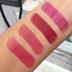 Clinique lip pop L to R: 13 Love Pop | 14 Plum Pop | 15 Berry Pop | 16 Grape Pop