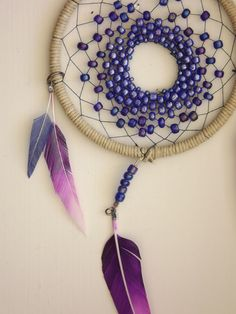 PURPLE OMBRE // Beaded Dream Catcher on Etsy, $28.00