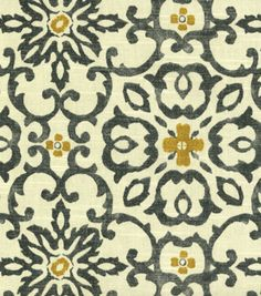 A decorative geometric design defined by simplicity and symmetry. Content: 100% Cotton Width: 54 Inches Fabric Type: Print Upholstery Grade: Medium Upholstery Horizontal Repeat: 9 Inches Vertical Repe