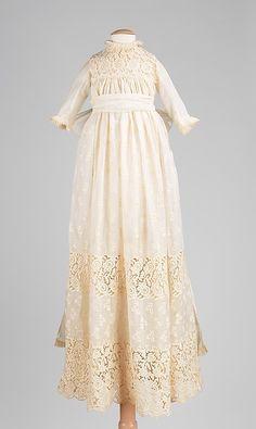 Christening Dress    Date:      1890  Culture:      American  Medium:      cotton